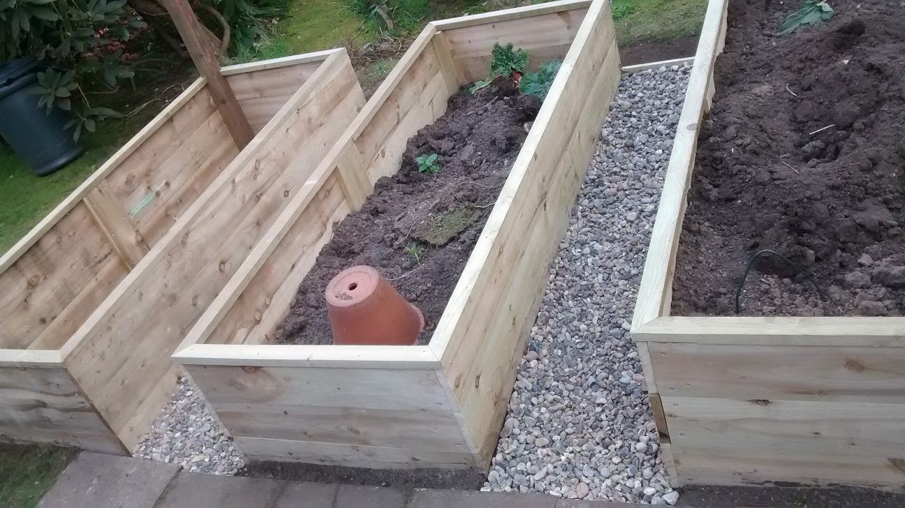 Creation Of Bespoke Raised Beds In Ditton