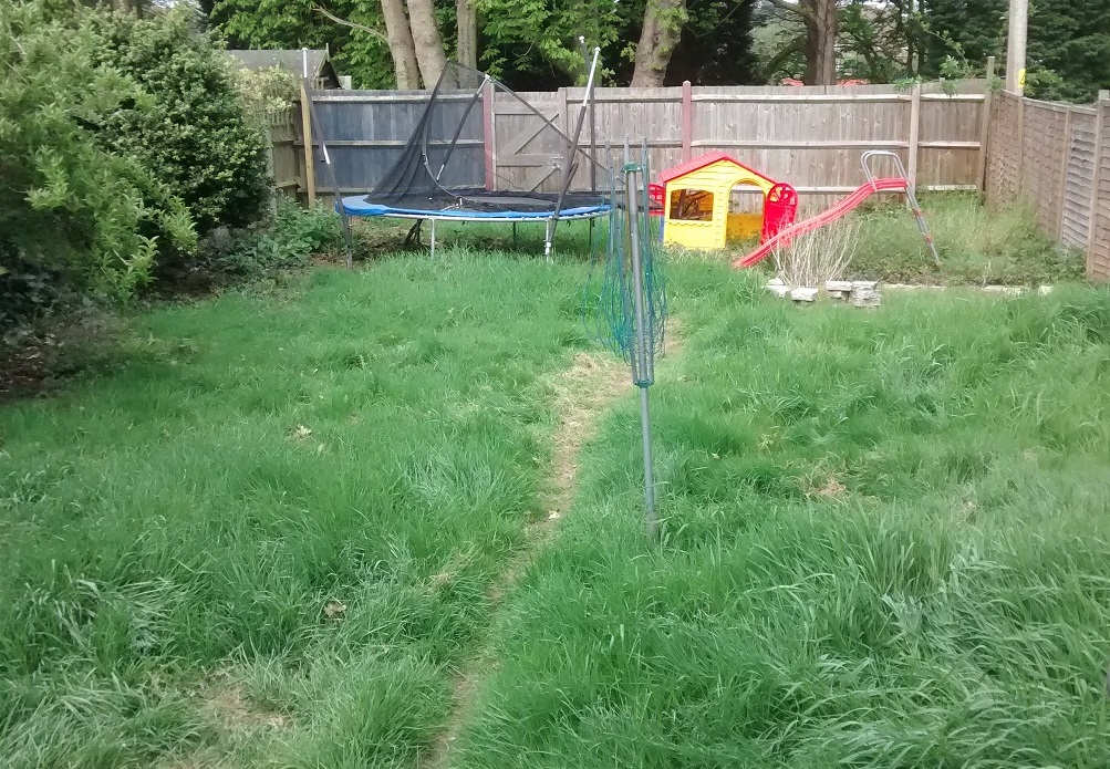 Overgrown grass and play area a mess