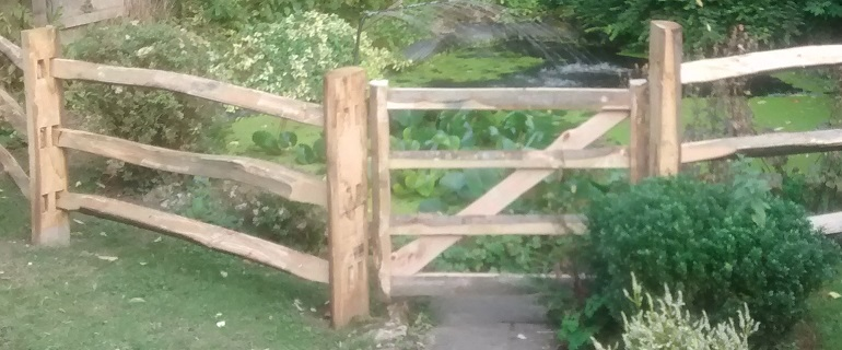chestnut fence and gate