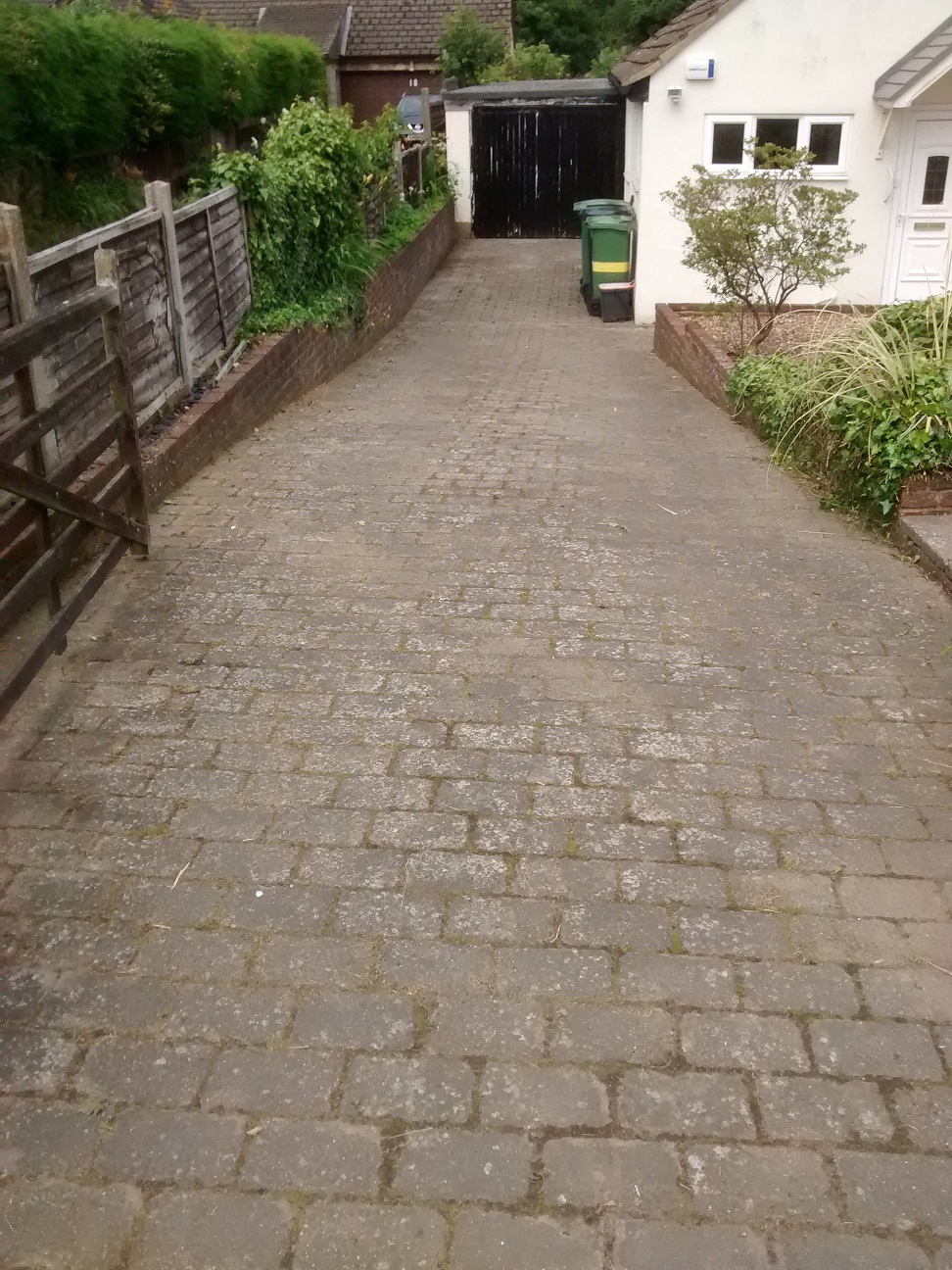 Weed-free driveway