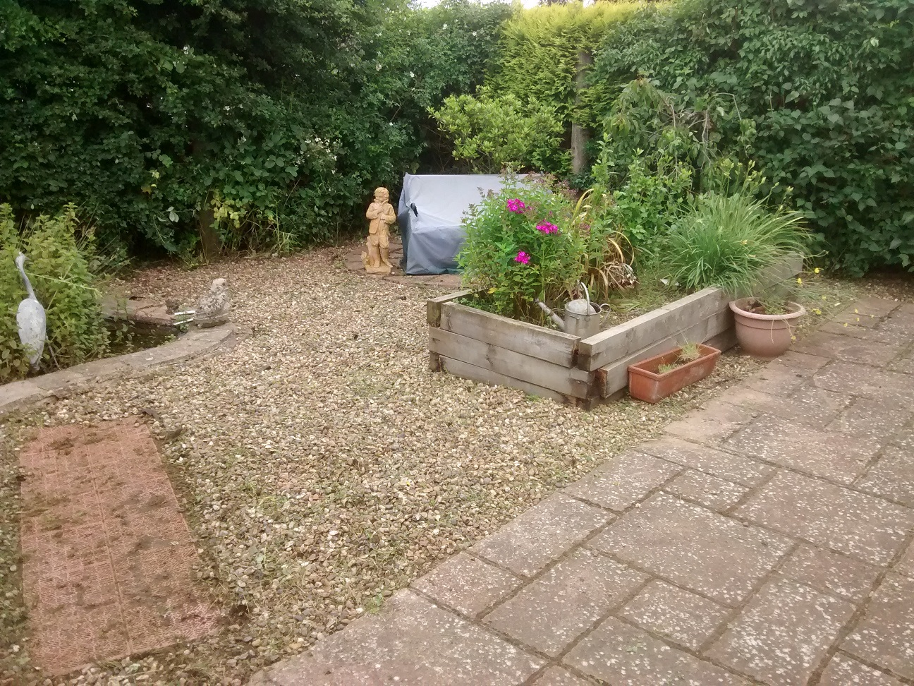 back garden cleared and weeded