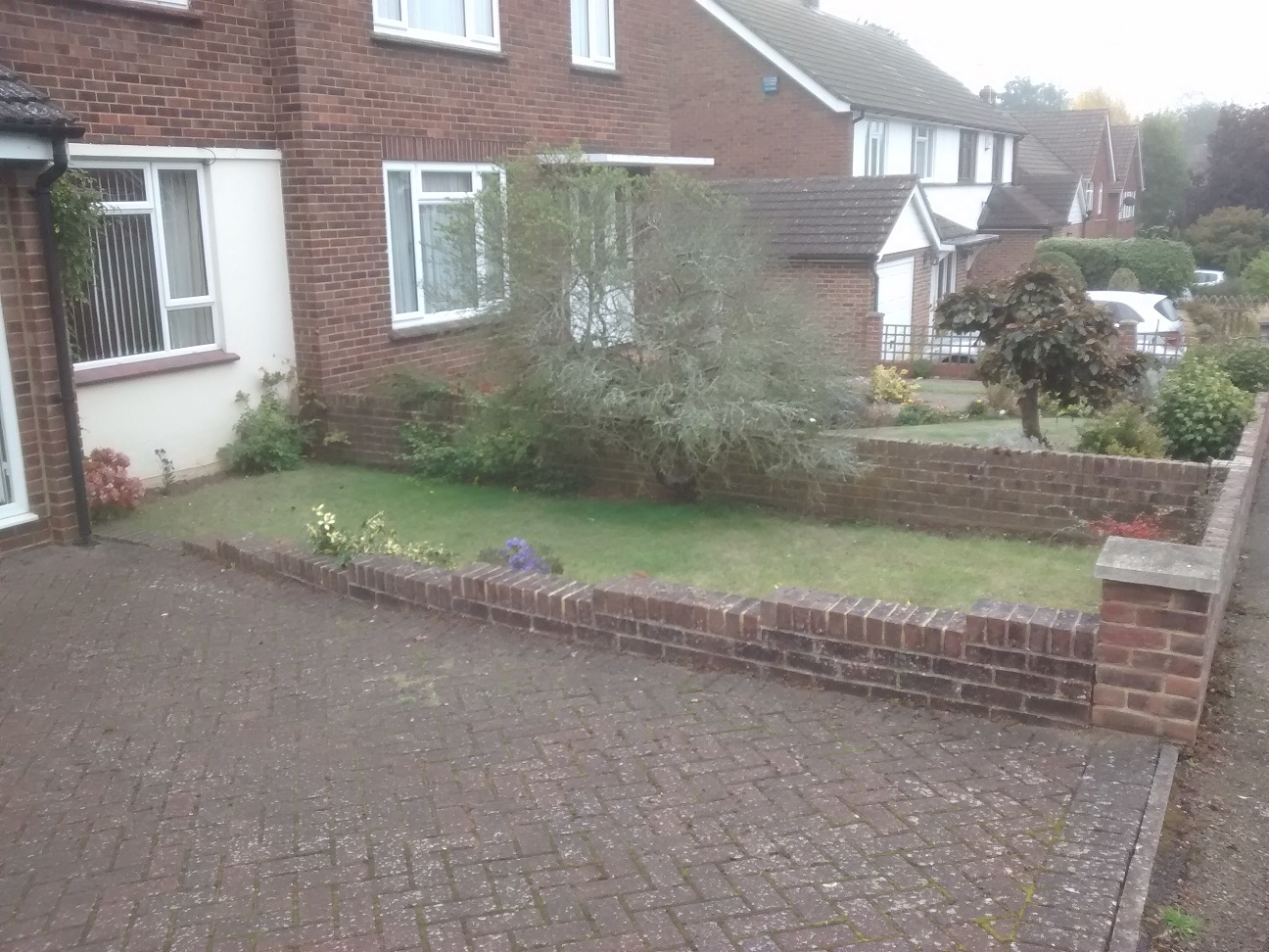bearsted front garden in need of a makeover and replanting