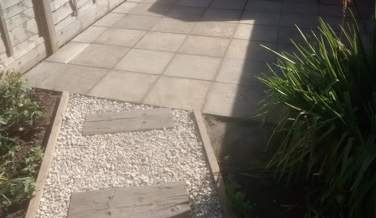 Patio relaid
